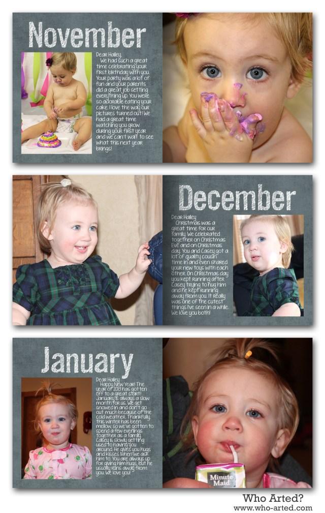 Yearly Photo Book, H1 Nov-Jan