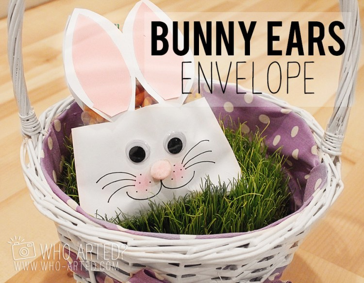 Easter Envelope Bunny Envelope Who Arted 00
