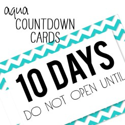 Birthday Countdown Cards Mini Aqua Who Arted Template Thumbnail