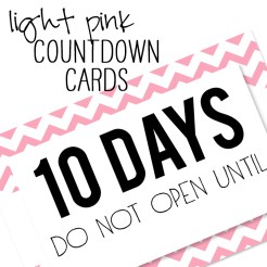 Birthday Countdown Cards Mini Light Pink Who Arted Template Thumbnail