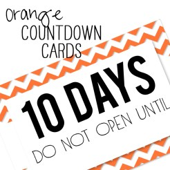 Birthday Countdown Cards Mini Orange Who Arted Template Thumbnail