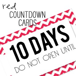 Birthday Countdown Cards Mini Red Who Arted Template Thumbnail