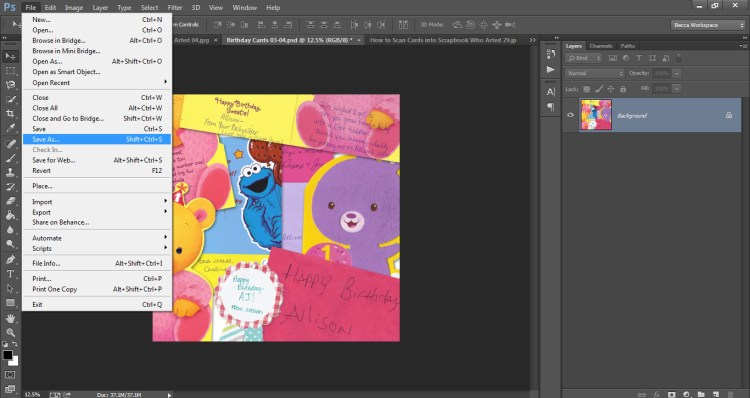 How to Scan Cards into Scrapbook Who Arted 30