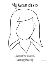 Mother's Day Coloring Page Grandma Long Hair Who Arted