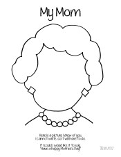 Mother's Day Coloring Page Mom Short Hair Who Arted