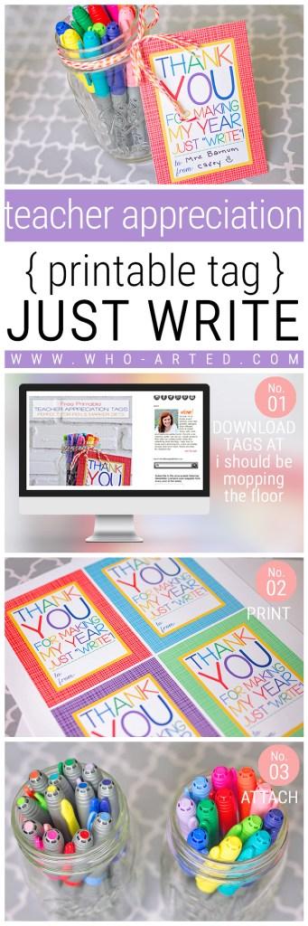 Teacher Appreciation Just Write - Pinterest 02