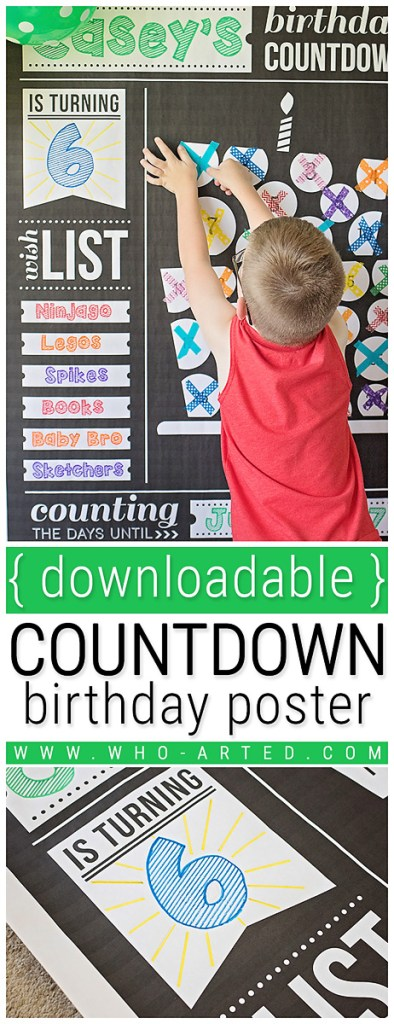 Birthday Countdown Poster Who Arted