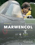 "The cover of ""Welcome to Marwencol"" shows Hogie in a fighter jet wearing headphones and a life vest. He stares directly at the camera."