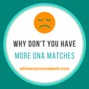 Why You Don't Have More DNA Matches