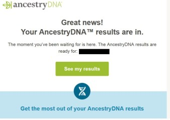 DNA Results are Ready!!