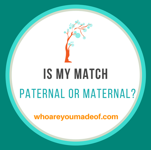 how to figure out if my match is paternal or maternal?