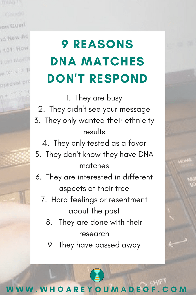 Why DNA Matches Don't Respond to Messages