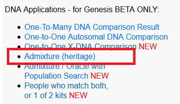 How to use the Gedmatch Genesis Admixture Calculators