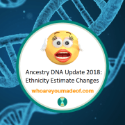 Ancestry DNA Update 2018:  Ethnicity Estimate Changes