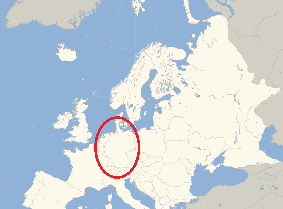 Location of Germanic Europe DNA Ethnicity