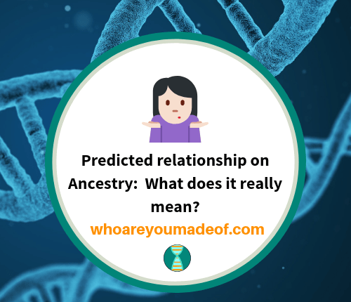 Predicted relationship on Ancestry: What does it really mean?