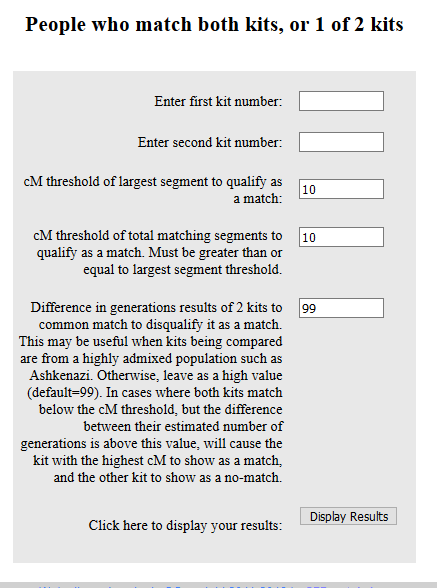 how to use the people who match one or both of two kits tool