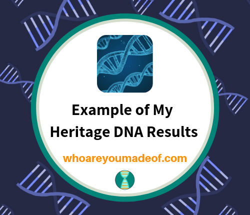 Example of My Heritage DNA Results