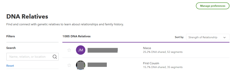 how many dna matches do you have on 23andme