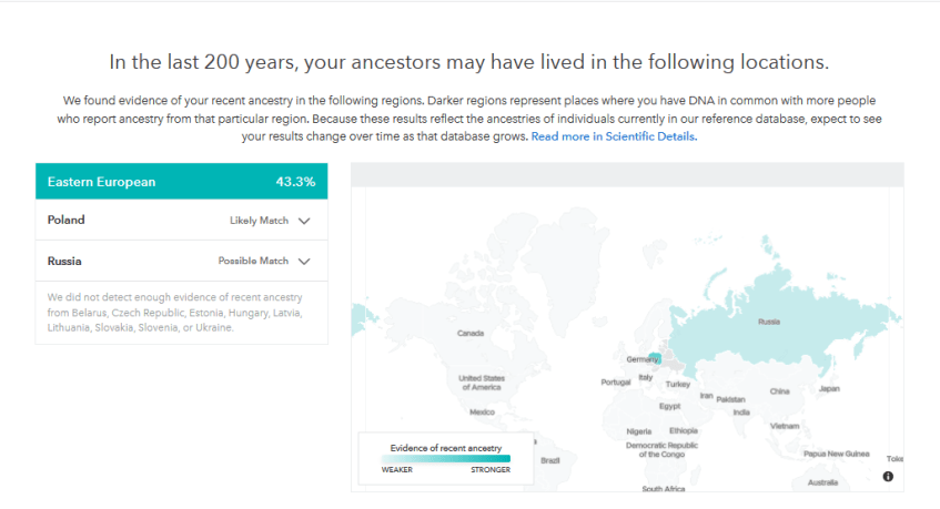 Can 23andme tell me exactly which country my ancestors were from?