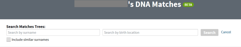 How to search Ancestry DNA matches