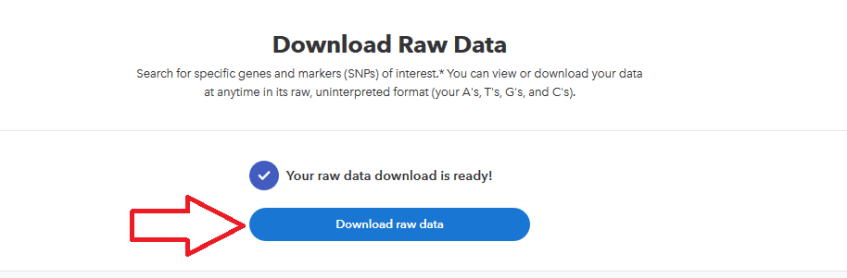 final step to download raw 23andme dna data
