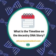 What is the Timeline on the Ancestry DNA Story?