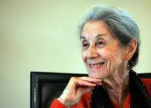 Nobel Prize for literature laureate Nadine Gordimer attends a memorial for [Nelson Mandela's biograp..