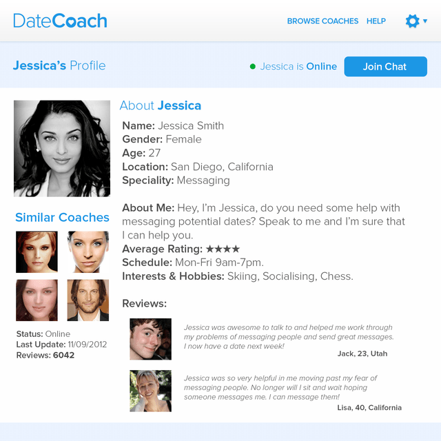 DateCoach a startup that's failed before launching.