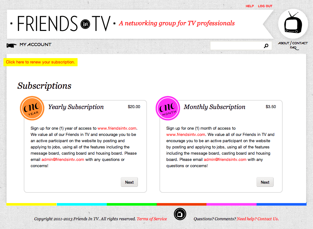 Is FriendsInTv.com yet another scam/Pay-4-Play job board?