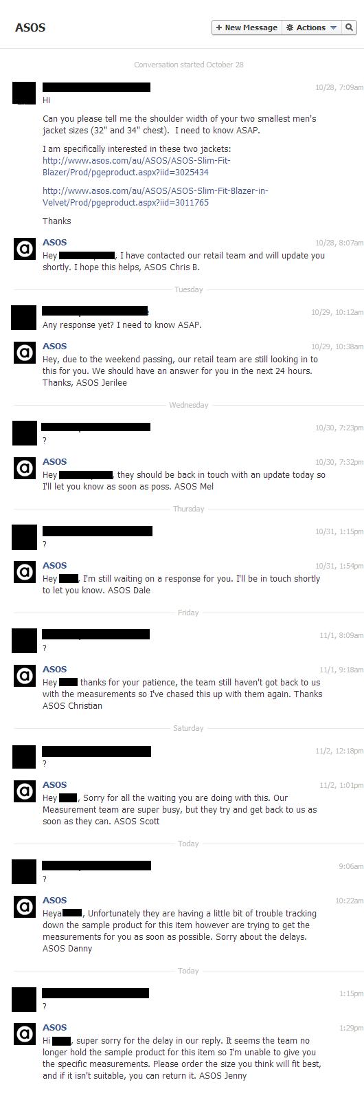 Asos.com Customer Service