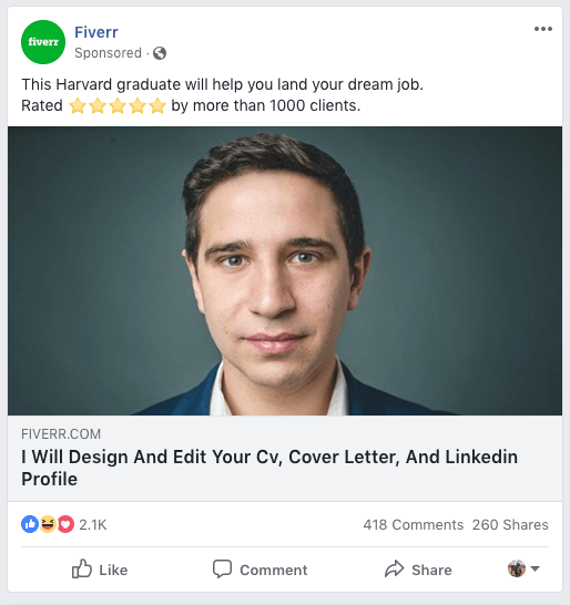 Fiverr and the misleading Harvard graduate AD campaign