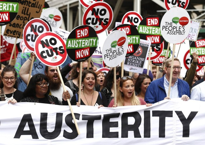 TOPSHOTS-BRITAIN-POLITICS-AUSTERITY-DEMO