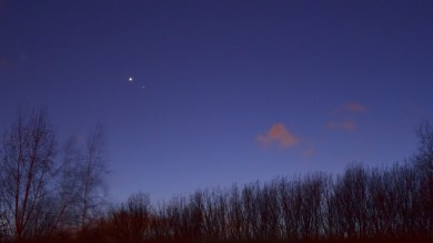 clear view of Venus, Mars and Pisces