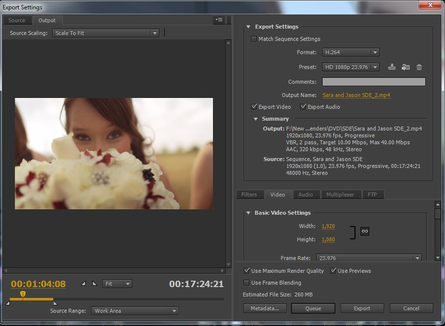 How To Export HD Video in Premiere Pro CS6, CS5 5, and CS5 for