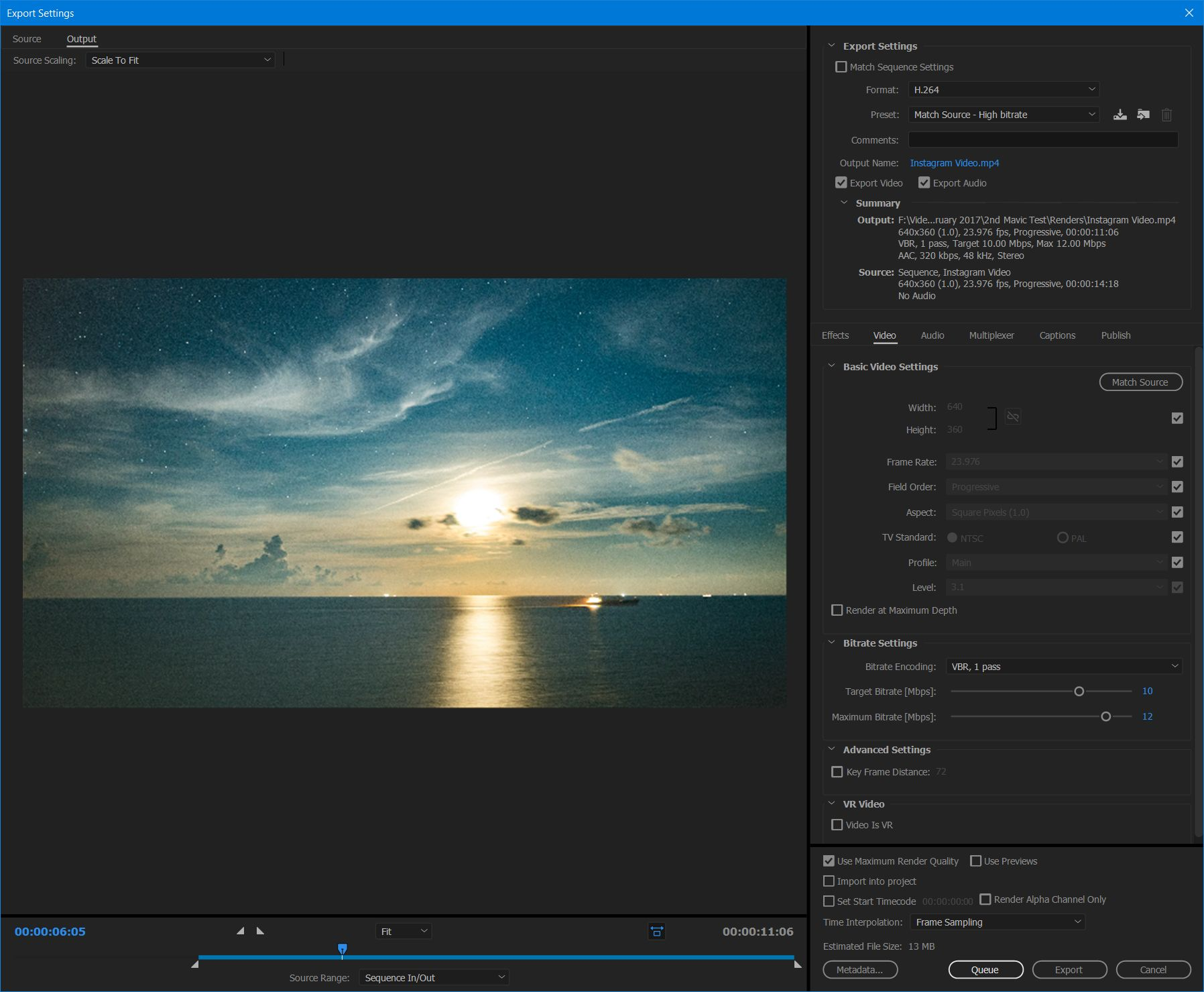 Creating High Quality Instagram Videos Using Adobe Premiere Pro CC