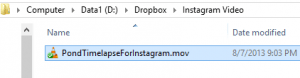 Instagram Video In Dropbox