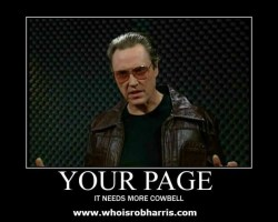 Christopher Walken More Cowbell