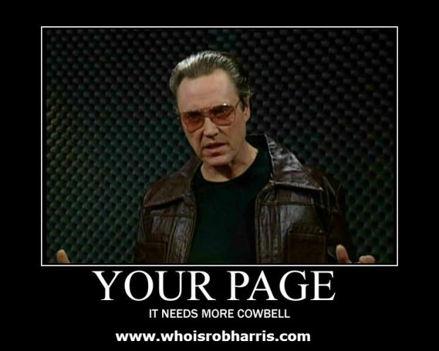 Christopher Walken - Your Page Needs More Cowbell