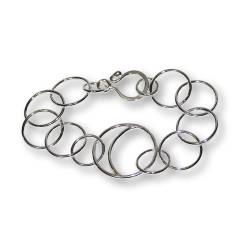 Windsong Jewellery Design Argentium Silver Crescent Moon Link Bracelet