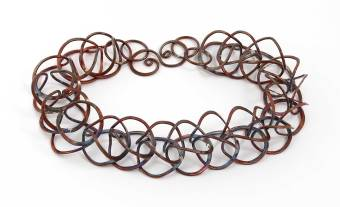 Windsong Jewellery Design Copper Super-Sized Loop-in-Loop Chain Necklace