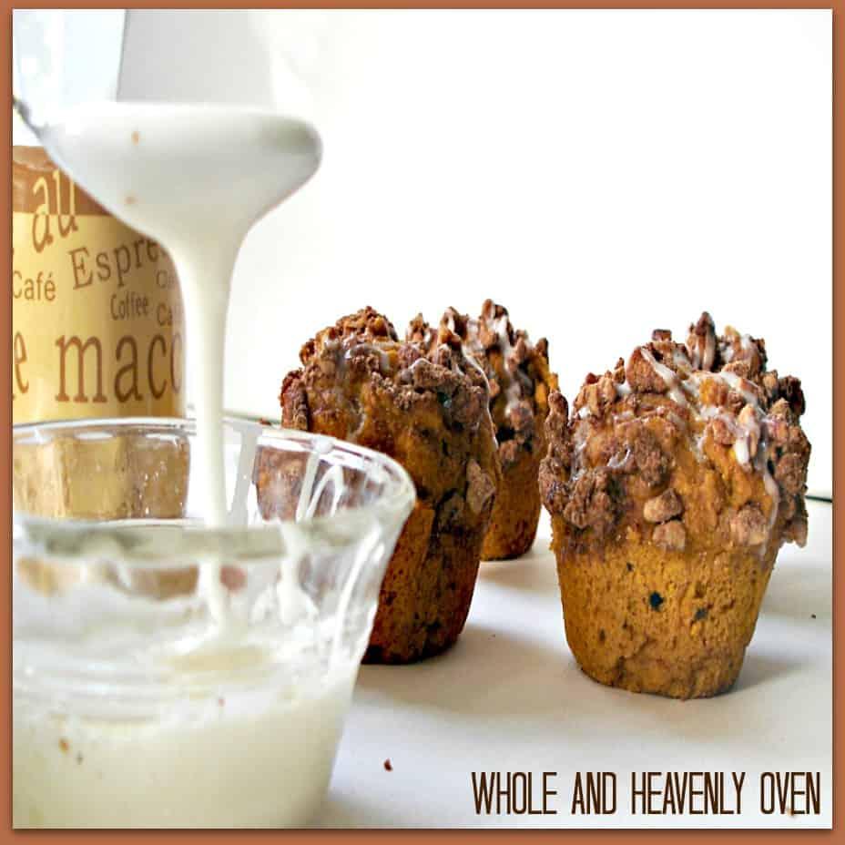 Pumpkin Pecan Streusel Muffins