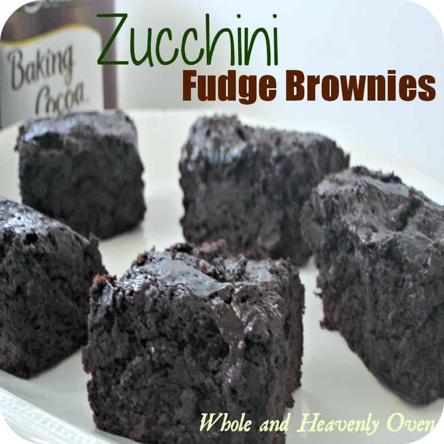 Zucchini Fudge Brownies
