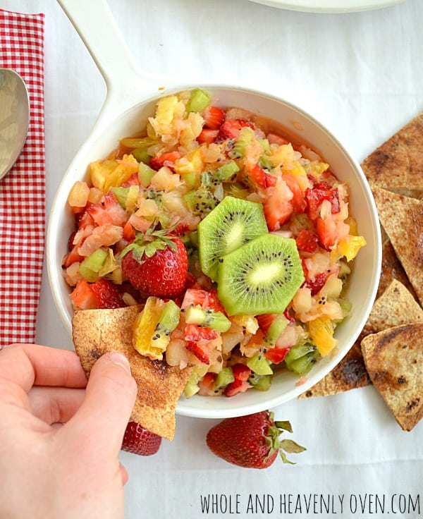 Summer Fruit Salsa With Cinnamon Chips7