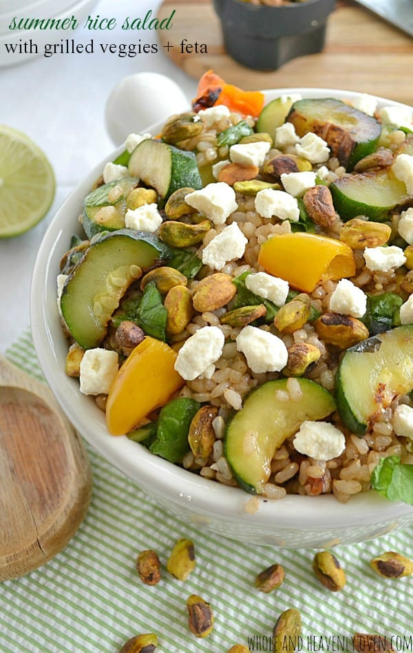 Summer Rice Salad with Grilled Veggies + Feta9