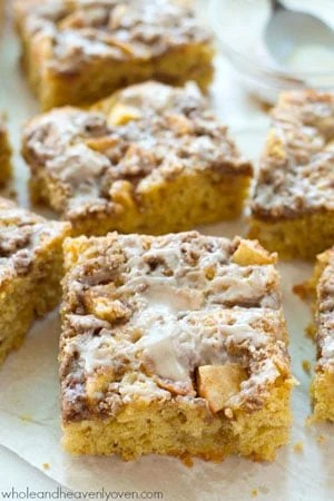 Unbelievably moist and loaded with apples, plenty of streusel, and glaze, you'll definitely savor every last crumb of this ultimate fall coffee cake!