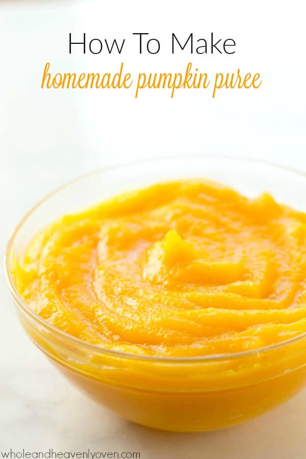 Once you learn how easy it is to make your own homemade pumpkin puree, you may never go back to the canned stuff again! @WholeHeavenly