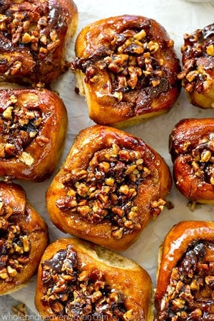 Best-Ever Overnight Pecan Sticky Buns - Whole and Heavenly