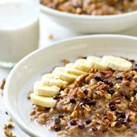 Crockpot Banana Bread Steel-Cut Oatmeal