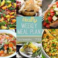Healthy Weekly Meal Plan Week 78